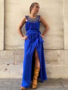 robe angella bleu klein